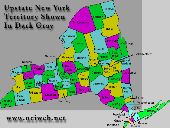 Can someone explain where upstate new york starts and stops